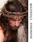 Jesus Christ Wearing A Crown Of ...