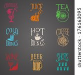 menu icon   latino style drinks ... | Shutterstock .eps vector #176163095