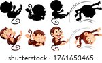 Set Of Monkey And Its...