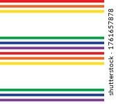 rainbow horizontal striped... | Shutterstock .eps vector #1761657878