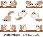 flying squirrels illustration...   Shutterstock .eps vector #1761673628