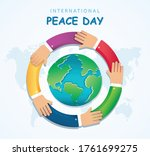 many hands of different races... | Shutterstock .eps vector #1761699275
