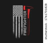 Fire Fighter Axe With American...
