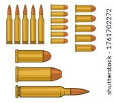 illustration of ammunition and... | Shutterstock .eps vector #1761702272