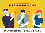 coronavirus covid 19 please... | Shutterstock .eps vector #1761717158