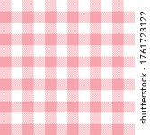 gingham pattern vector in... | Shutterstock .eps vector #1761723122