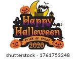 happy halloween logo design... | Shutterstock .eps vector #1761753248
