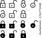 simple lock and password... | Shutterstock .eps vector #1761772448