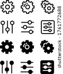 simple settings and gear icon... | Shutterstock .eps vector #1761772688