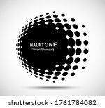 halftone circle perspective... | Shutterstock .eps vector #1761784082