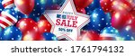 4 th of july sale poster.usa... | Shutterstock .eps vector #1761794132