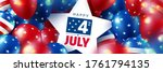 4 th of july sale poster.usa... | Shutterstock .eps vector #1761794135