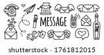 vector doodles set message ... | Shutterstock .eps vector #1761812015