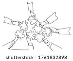 single continuous line drawing... | Shutterstock .eps vector #1761832898