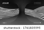 optical illusion pop art 70s... | Shutterstock .eps vector #1761835595