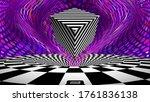 optical illusion cube. retro op ... | Shutterstock .eps vector #1761836138