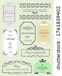 set of ornate frames and... | Shutterstock . vector #1761839402