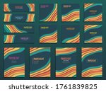 set of creative vertical... | Shutterstock .eps vector #1761839825