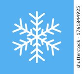 white snowflake vector icon...   Shutterstock .eps vector #1761844925
