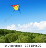 Kite Flying In The Sky Over Th...