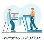 male cardiologist in uniform... | Shutterstock .eps vector #1761854165