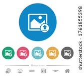 upload image flat white icons... | Shutterstock .eps vector #1761855398