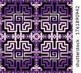 abstract violet greek vector... | Shutterstock .eps vector #1761890942