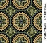 colorful floral greek vector... | Shutterstock .eps vector #1761891062
