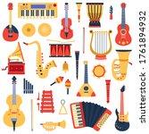 music instruments. musical...   Shutterstock .eps vector #1761894932