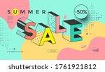 summer sale banner design...   Shutterstock .eps vector #1761921812