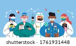international doctor team....   Shutterstock .eps vector #1761931448