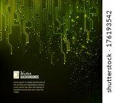 abstract green lights... | Shutterstock .eps vector #176193542