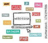 web development concept | Shutterstock .eps vector #176194586