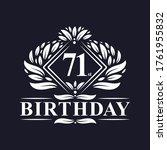 71 years birthday logo  luxury...   Shutterstock .eps vector #1761955832