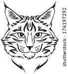 contour image of muzzle flurry...   Shutterstock .eps vector #176197292