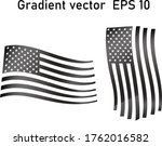 usa flag  gradient illustration ... | Shutterstock .eps vector #1762016582