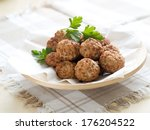 minced meat ball in bowl ...   Shutterstock . vector #176204522