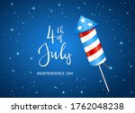 text 4th of july and firework... | Shutterstock .eps vector #1762048238