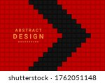 red and black geometric ... | Shutterstock .eps vector #1762051148