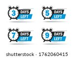 3  5  7 days left icon. limited ... | Shutterstock .eps vector #1762060415