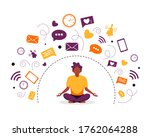 information detox and... | Shutterstock .eps vector #1762064288