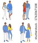 vector fashion illustration of... | Shutterstock .eps vector #1762067108