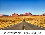 Road To Monument Valley During...