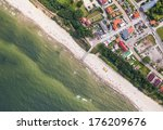 aerial view of sandy polish... | Shutterstock . vector #176209676