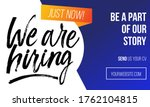 we are hiring colourful concept ... | Shutterstock .eps vector #1762104815