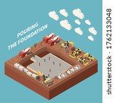 concrete cement production... | Shutterstock .eps vector #1762133048
