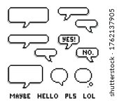 pixel speech bubble set with a...   Shutterstock .eps vector #1762137905