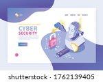 isometric cybersecurity concept ...