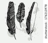 vector graphic set of hand... | Shutterstock .eps vector #176213978