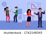 colleagues talking at coffee... | Shutterstock .eps vector #1762148345